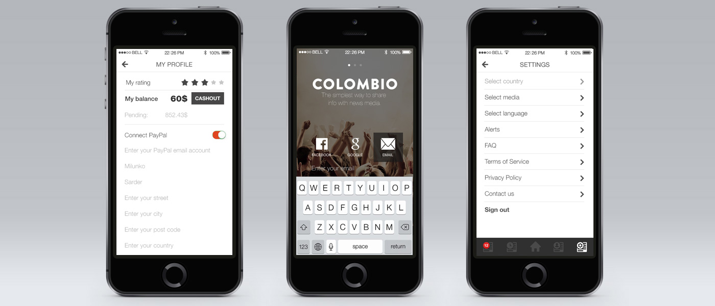 Colombio application